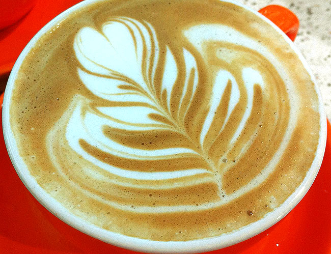 Latte Art from Barista Dritan Alsela
