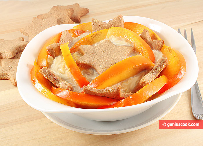 Chestnut Cream Dessert With Persimmon And Cookies Desserts Genius Cook Healthy Nutrition Tasty Food Simple Recipes