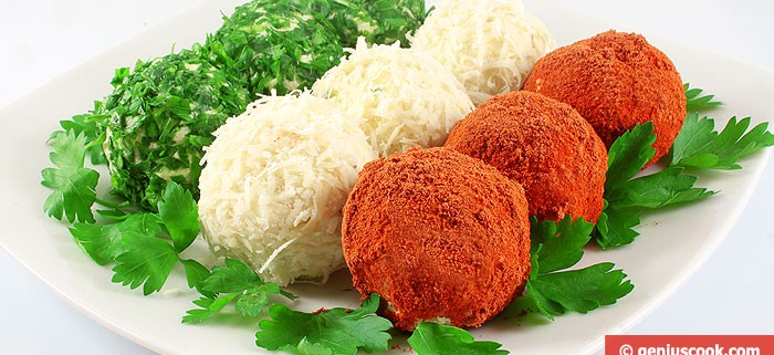 Colored Cheese Balls