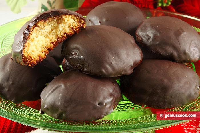 Marzipan Cookies with Chocolate