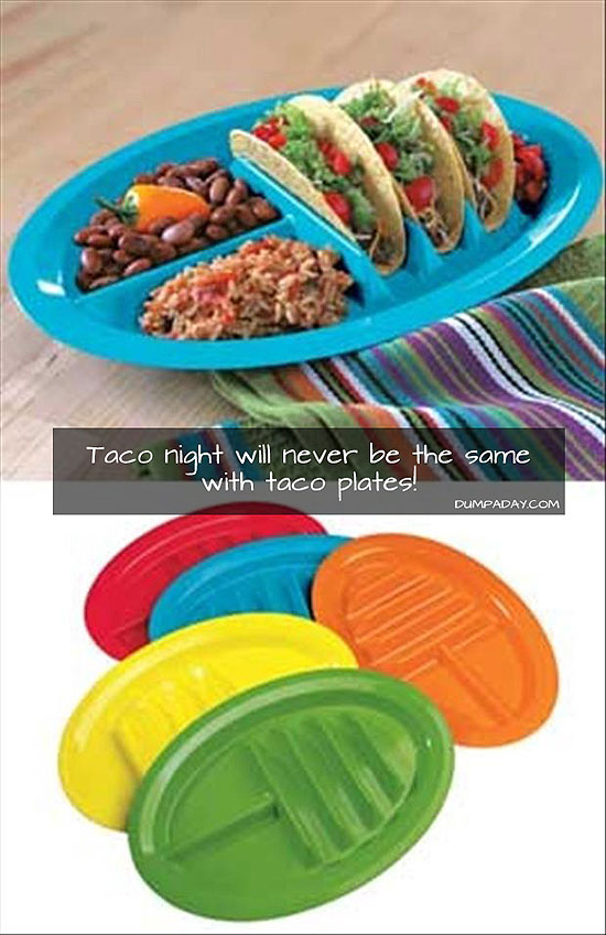 Cool plates for taco