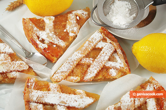 Lemon Tart  sprinkle with powdered sugar