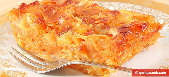 Sweet Lasagna with Apples