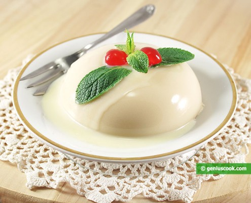 Coconut Blancmange with White Chocolate