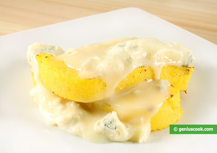 Polenta with Gorgonzola  cheese