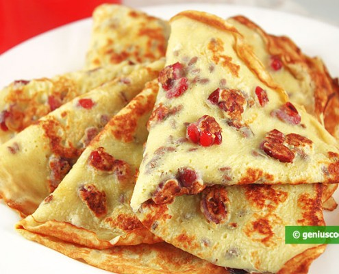 Pancakes with Cranberries and Seeds