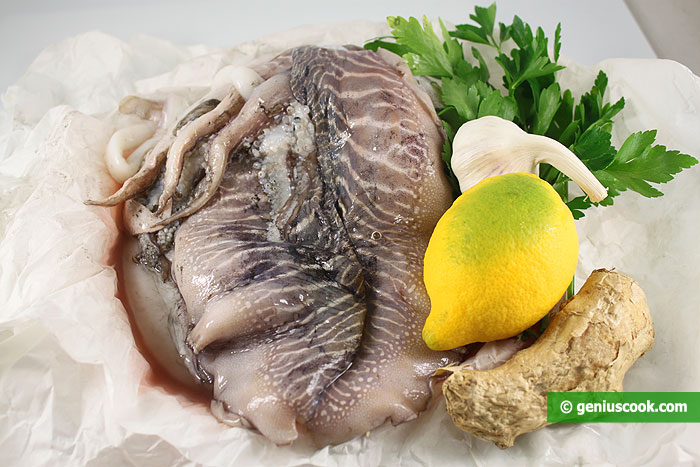Ingredients for Cuttlefish with lemon