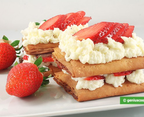 Millefeuille with Strawberries and Cream