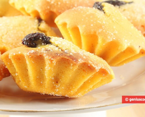 Italian Cupcakes Chocolate Bocconotti with Almond