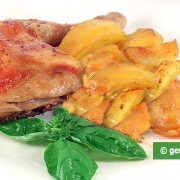 Chicken in Cream Baked with Potatoes