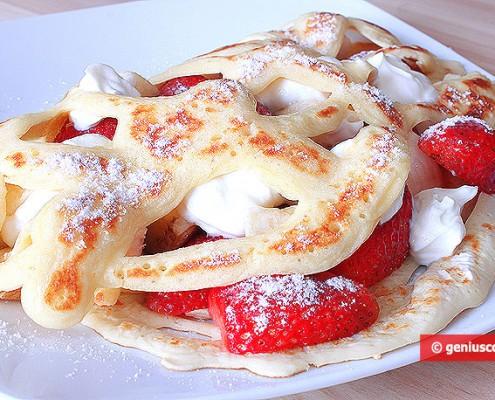 Strange Delicate Pancakes For Breakfast