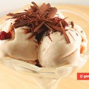 Yogurt Ice Cream with Cinnamon and Cranberries