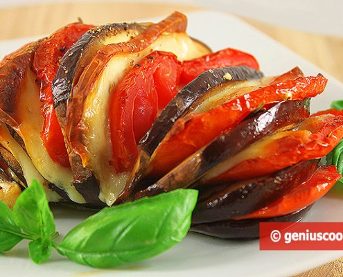 Baked Eggplant with Cheese and Tomatoes