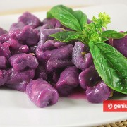 Purple Gnocchi with Lemon Sauce