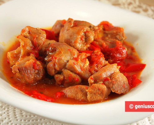 Braised Turkey with Bell Pepper