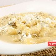 Potato Gnocchi in a Cream and Mushroom Sauce