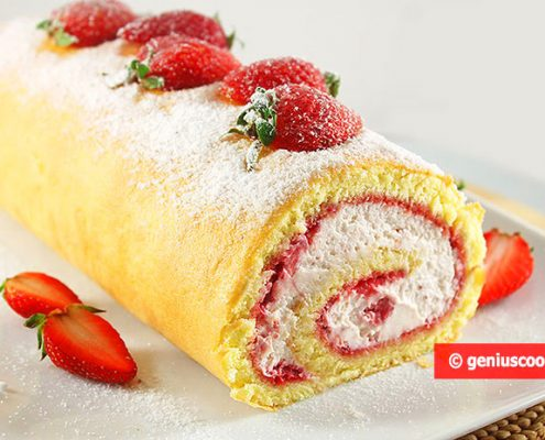 Strawberry Swiss Roll
