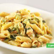 Pasta with Salmon, Zucchini and Cream