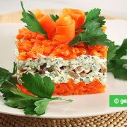 Salad with Chicken Breast and Carrot